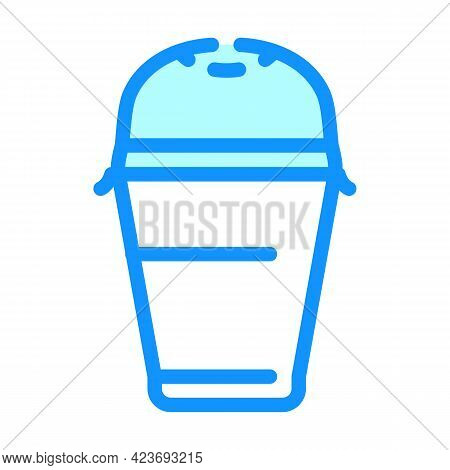 Drink Plastic Cup Color Icon Vector. Drink Plastic Cup Sign. Isolated Symbol Illustration