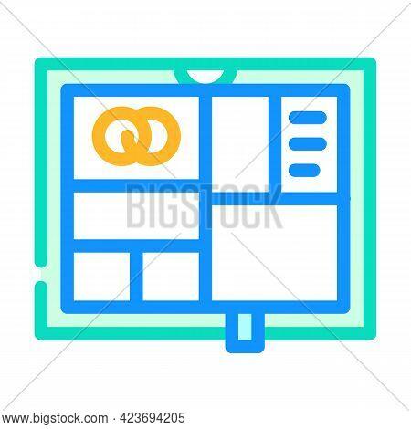 Photo Album Wedding Accessory Color Icon Vector. Photo Album Wedding Accessory Sign. Isolated Symbol