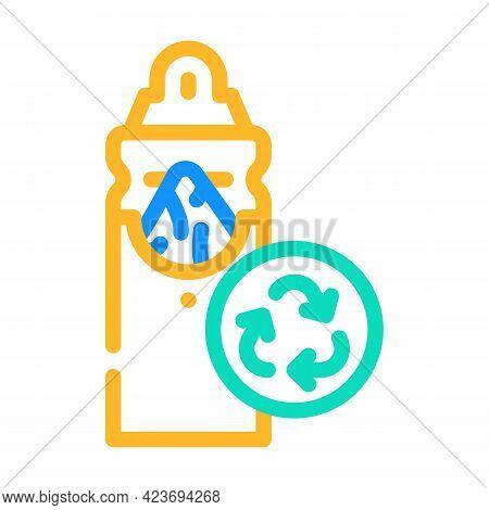 Napkin Holder Zero Waste Color Icon Vector. Napkin Holder Zero Waste Sign. Isolated Symbol Illustrat