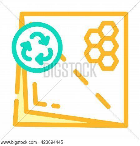 Beeswax Paper Zero Waste Color Icon Vector. Beeswax Paper Zero Waste Sign. Isolated Symbol Illustrat