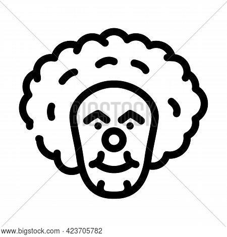 Clown Fear Line Icon Vector. Clown Fear Sign. Isolated Contour Symbol Black Illustration
