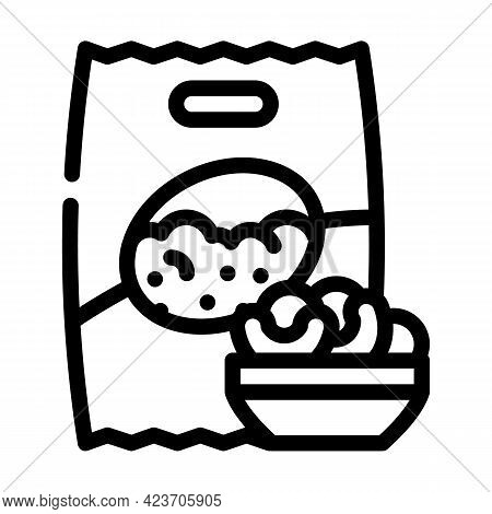 Soy Gluten Free Line Icon Vector. Soy Gluten Free Sign. Isolated Contour Symbol Black Illustration