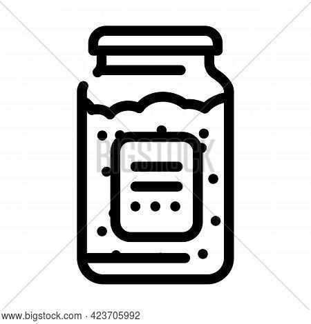 Bottle For Storage Gluten Free Food Line Icon Vector. Bottle For Storage Gluten Free Food Sign. Isol