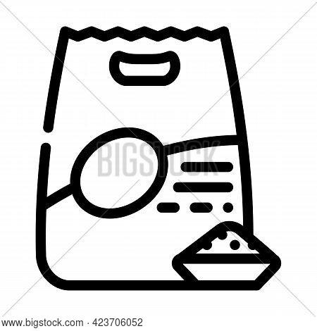 Quinoa Porridge Gluten Free Line Icon Vector. Quinoa Porridge Gluten Free Sign. Isolated Contour Sym