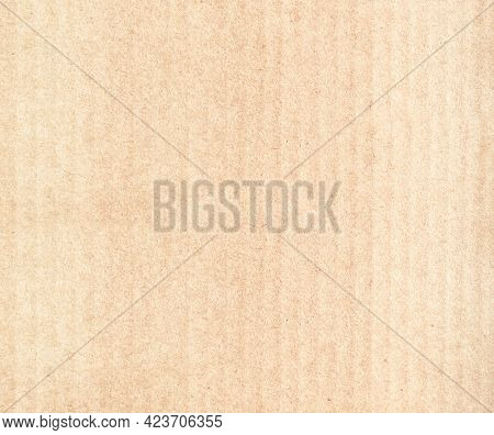 Striped cardboard texture. Horizontal or vertical banner with paper texture. Paper cardboard background. Recycled carton material