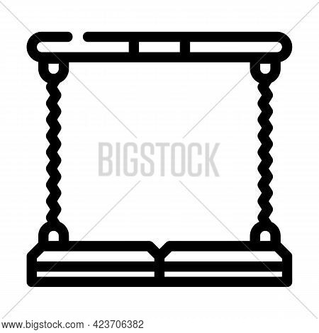 Expander Gym Exercising Tool Line Icon Vector. Expander Gym Exercising Tool Sign. Isolated Contour S