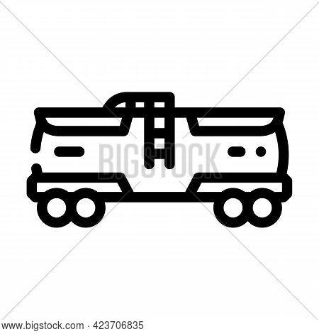 Railway Tank Hydrogen Transportation Line Icon Vector. Railway Tank Hydrogen Transportation Sign. Is
