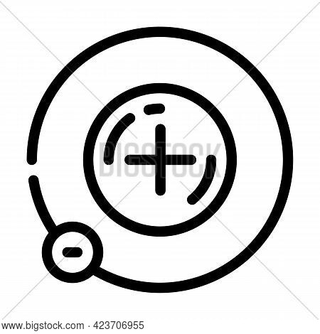 Atom Hydrogen Line Icon Vector. Atom Hydrogen Sign. Isolated Contour Symbol Black Illustration