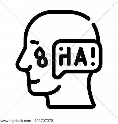 Ambivalence Neurosis, Sharp Mood Swings Line Icon Vector. Ambivalence Neurosis, Sharp Mood Swings Si