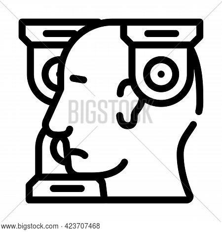 Persecution Mania Problem Line Icon Vector. Persecution Mania Problem Sign. Isolated Contour Symbol