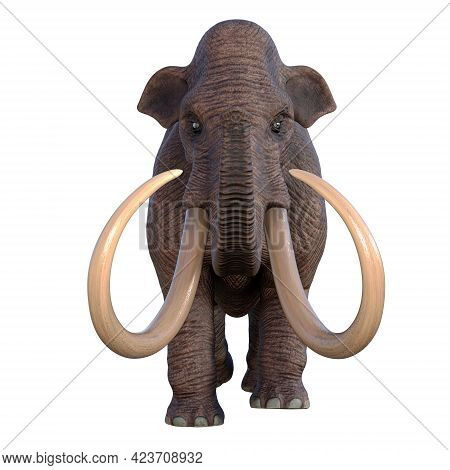 Ice Age Mammoth 3d Illustration - During The Ice Age Of North America The Columbian Mammoth Was The