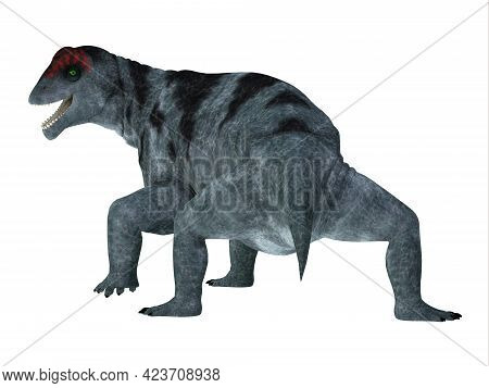 Moschops Dinosaur Tail 3d Illustration - Moschops Was A Therapsid Herbivorous Dinosaur That Lived Du