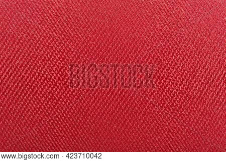 Fabric Red. Fabric Texture For Background And Design Works Of Art, Beautiful Wrinkled Pattern Of Sil