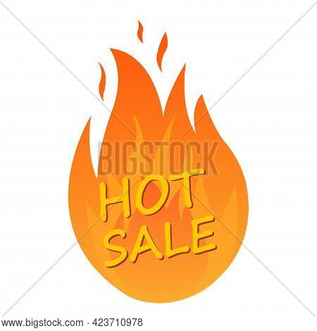 Discount Or Sale. Hot Sales And Hot Offer Signs. Logo Design, Label: Hot Sale Logo Concept Isolated