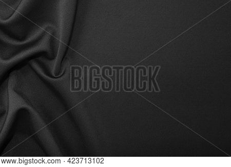Fabric. Fabric Texture For Background And Design Works Of Art, Beautiful Wrinkled Pattern Of Silk Or
