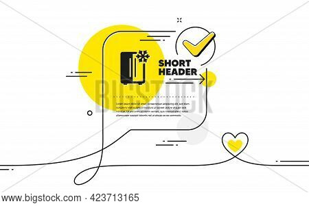 Two-chamber Refrigerator Icon. Continuous Line Check Mark Chat Bubble. Fridge With Snowflake Sign. F