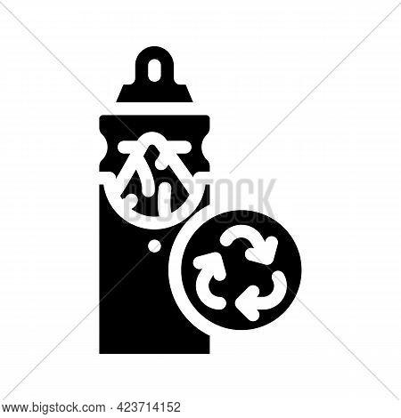 Napkin Holder Zero Waste Glyph Icon Vector. Napkin Holder Zero Waste Sign. Isolated Contour Symbol B