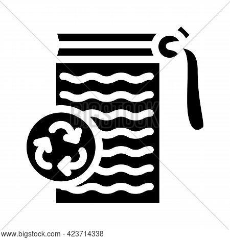 Sponge Zero Waste Glyph Icon Vector. Sponge Zero Waste Sign. Isolated Contour Symbol Black Illustrat