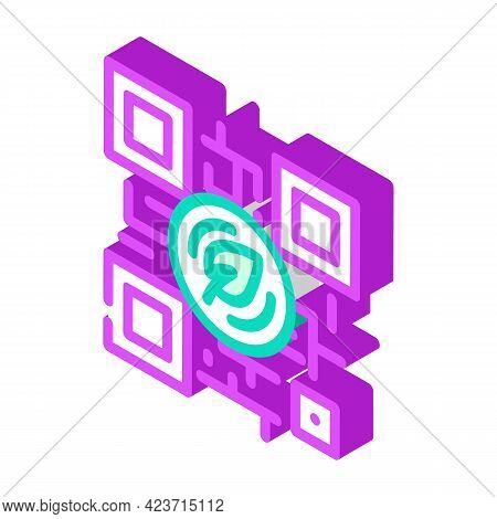 Qr Code For Payment By Chia Cryptocurrency Isometric Icon Vector. Qr Code For Payment By Chia Crypto