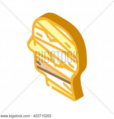 Mummy Fear Isometric Icon Vector. Mummy Fear Sign. Isolated Symbol Illustration