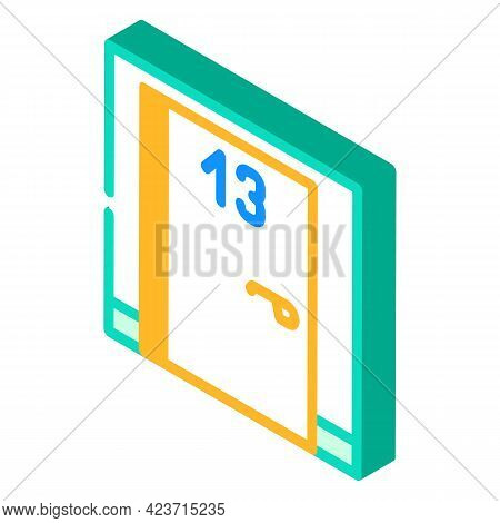 Numbers Fear Isometric Icon Vector. Numbers Fear Sign. Isolated Symbol Illustration