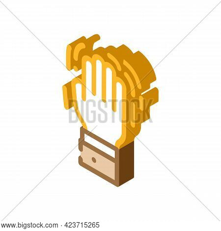 Shaking Hand Fear Isometric Icon Vector. Shaking Hand Fear Sign. Isolated Symbol Illustration