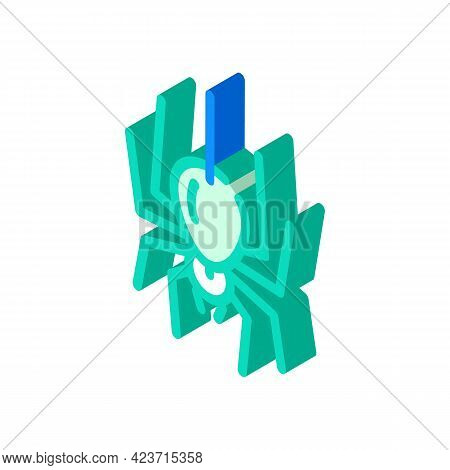 Spider Fear Isometric Icon Vector. Spider Fear Sign. Isolated Symbol Illustration
