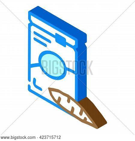 Cassava Gluten Free Isometric Icon Vector. Cassava Gluten Free Sign. Isolated Symbol Illustration