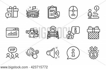 Business Icons Set. Included Icon As Spanner, Surprise, Loud Sound Signs. Approved, Customer Satisfa