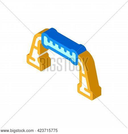 Push-ups Gym Equipment Isometric Icon Vector. Push-ups Gym Equipment Sign. Isolated Symbol Illustrat