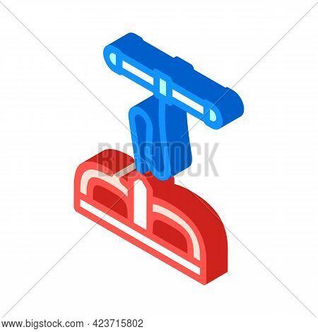 Body Training Gym Equipment Isometric Icon Vector. Body Training Gym Equipment Sign. Isolated Symbol