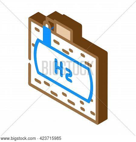 Underground Storage Hydrogen Isometric Icon Vector. Underground Storage Hydrogen Sign. Isolated Symb