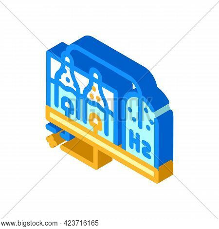 Hydrogen Production Process Isometric Icon Vector. Hydrogen Production Process Sign. Isolated Symbol