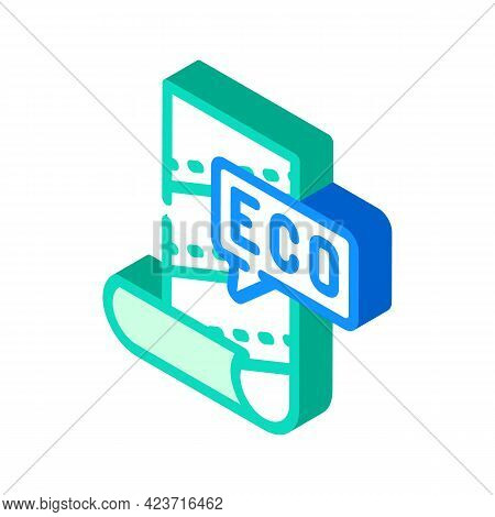 Eco Material For Renovation Isometric Icon Vector. Eco Material For Renovation Sign. Isolated Symbol