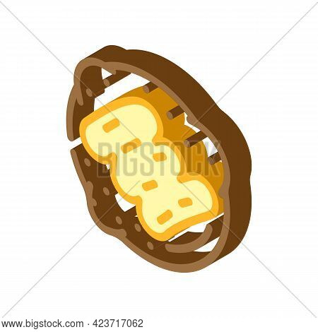 Cookies With Peanut Butter Isometric Icon Vector. Cookies With Peanut Butter Sign. Isolated Symbol I