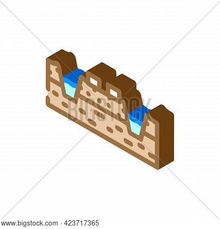 Mining Peat Isometric Icon Vector. Mining Peat Sign. Isolated Symbol Illustration