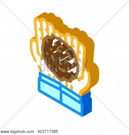 Hands Holding Peat Isometric Icon Vector. Hands Holding Peat Sign. Isolated Symbol Illustration