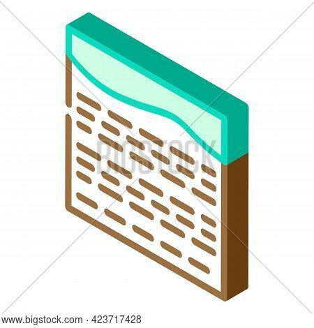 Field Peat Isometric Icon Vector. Field Peat Sign. Isolated Symbol Illustration