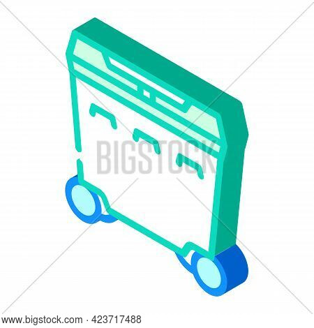 Trash Can Plastic Isometric Icon Vector. Trash Can Plastic Sign. Isolated Symbol Illustration