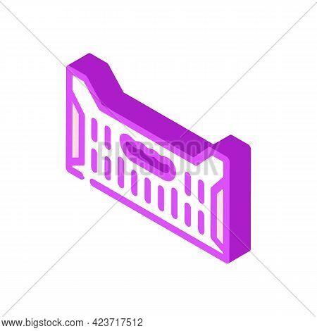 Box Container Plastic Isometric Icon Vector. Box Container Plastic Sign. Isolated Symbol Illustratio