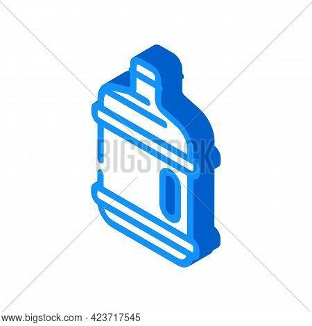Water Plastic Bottle Isometric Icon Vector. Water Plastic Bottle Sign. Isolated Symbol Illustration