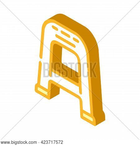 Chair Plastic Isometric Icon Vector. Chair Plastic Sign. Isolated Symbol Illustration
