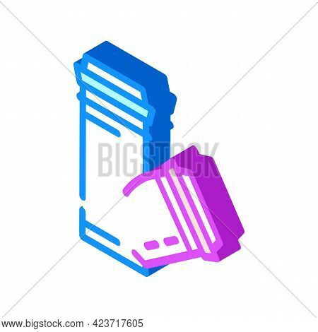 Polypropylene Plastic Pipes Isometric Icon Vector. Polypropylene Plastic Pipes Sign. Isolated Symbol