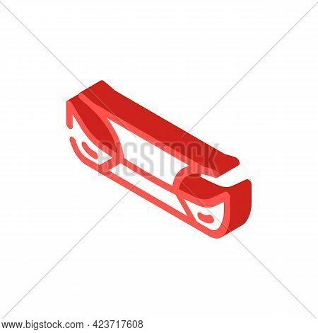 Bumper Plastic Car Part Isometric Icon Vector. Bumper Plastic Car Part Sign. Isolated Symbol Illustr