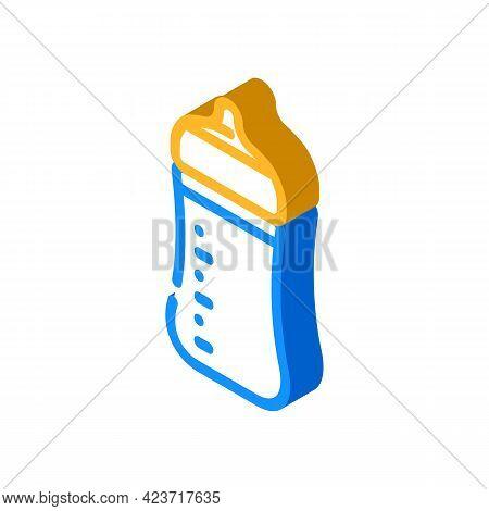Baby Feeding Plastic Bottle Isometric Icon Vector. Baby Feeding Plastic Bottle Sign. Isolated Symbol