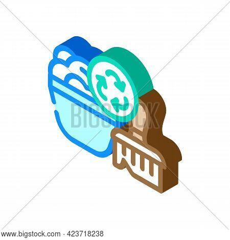 Soap Dispenser Zero Waste Isometric Icon Vector. Soap Dispenser Zero Waste Sign. Isolated Symbol Ill
