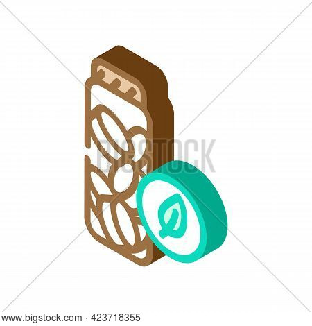 Charcoal Toothpaste Tablets Zero Waste Isometric Icon Vector. Charcoal Toothpaste Tablets Zero Waste
