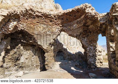 Ruins Of Medieval Building In Old City Of Van, Right Near Van Fortress, Van, Turkey. None Of Buildin