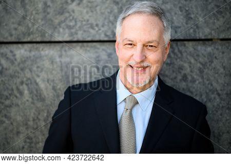 Mature businessman portrait outdoor smiling