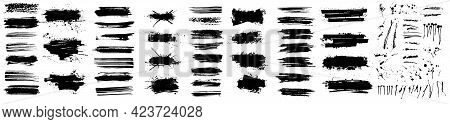 Beautiful Paintbrush Vector Collection. Grunge Elements - Brush Stroke, Ink Paint Brush, Grunge Line